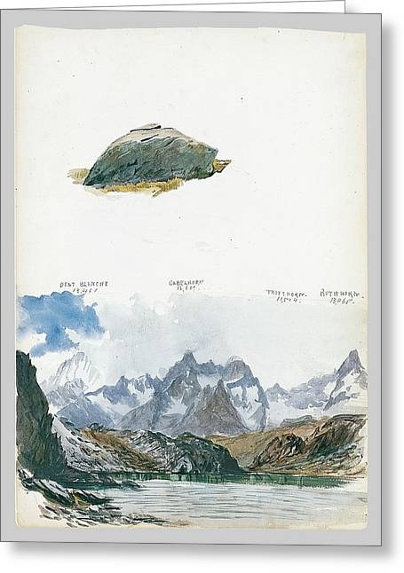 View Of Four Mountains From The Gorner Grat Greeting Card by John Singer