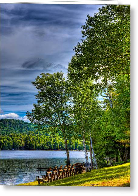 View Of Fourth Lake From The Woods Inn Greeting Card