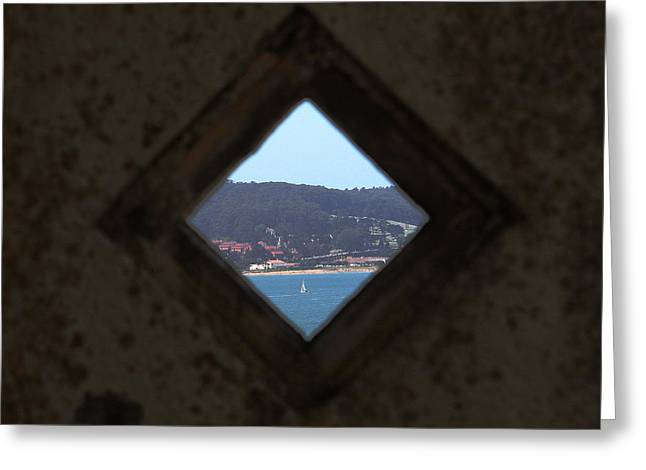 Alcatraz Greeting Cards - View of Freedom Greeting Card by Ty Helbach