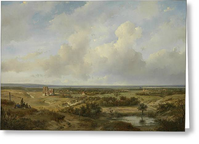 View Of Haarlem Greeting Card