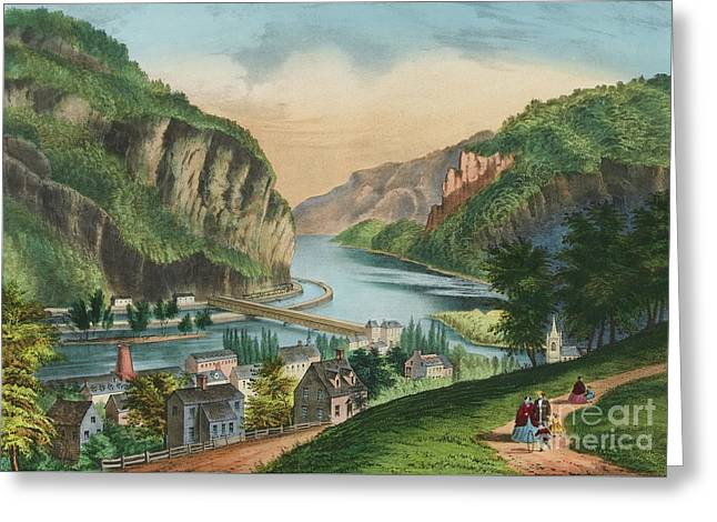 View Of Harpers Ferry, Virginia Greeting Card