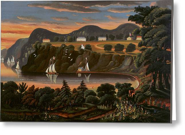 View Of Hudson River At West Point Greeting Card