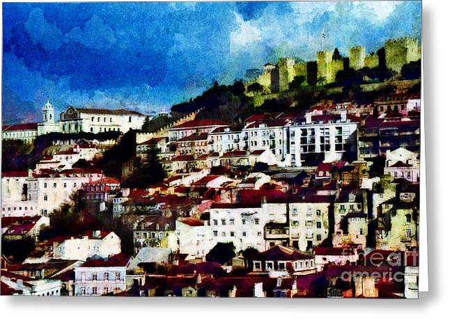 View Of Lisbon Greeting Card