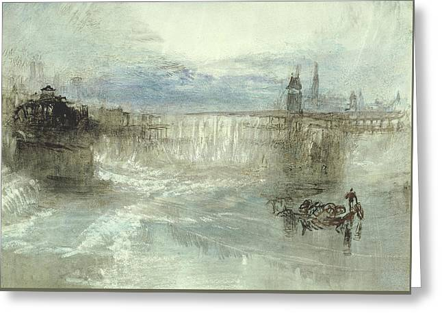 View Of Lucerne Greeting Card by Joseph Mallord William Turner