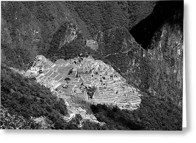 View Of Machu Picchu From The Inca Trail Greeting Card