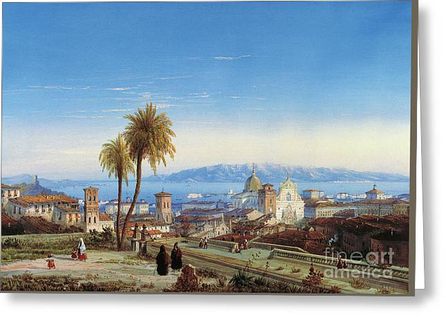 View Of Messina, 1845 Greeting Card