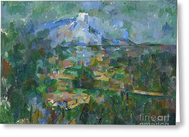 View Of Montagne Sainte Victoire From Lauves Greeting Card