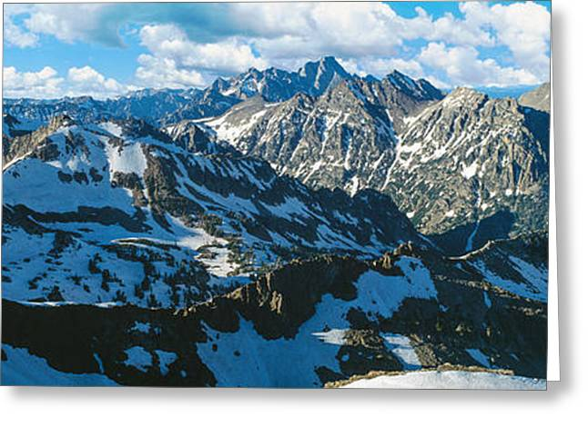 View Of Mountains, Table Mountain Greeting Card by Panoramic Images