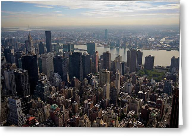View Of New York City From The Empire State Building Greeting Card