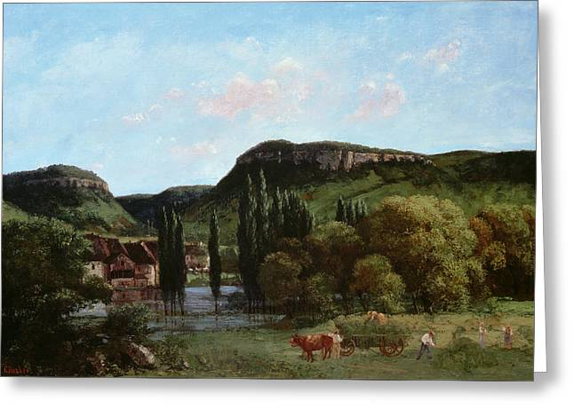 View Of Ornans, 1864 Greeting Card by Gustave Courbet