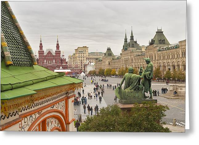 View Of Red Square In Moscow Greeting Card