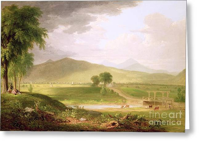 River View Greeting Cards - View of Rutland - Vermont Greeting Card by Asher Brown Durand