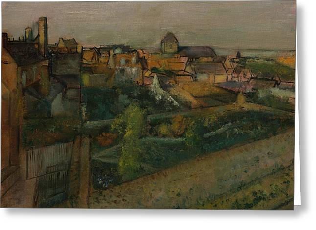 View Of Saint-valery-sur-somme Greeting Card by Edgar Degas