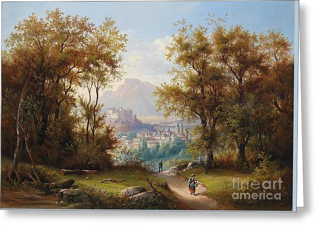 View Of Salzburg Greeting Card by Celestial Images
