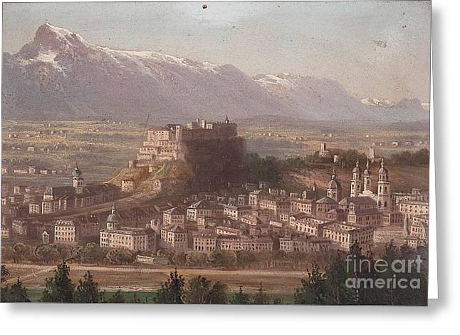 view of Salzburg Greeting Card by MotionAge Designs