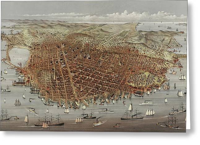 View Of San Francisco Greeting Card by American School
