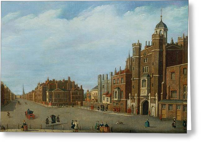 View Of St. James's Palace And Pall Mal Greeting Card by William James