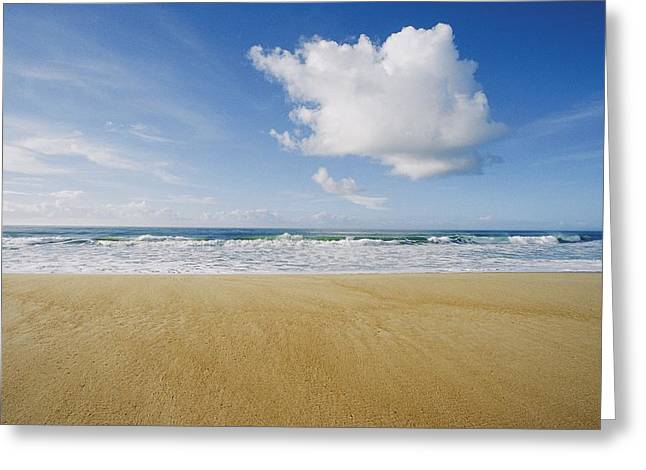 View Of Sun, Sand, And Surf At Cape Greeting Card by Skip Brown