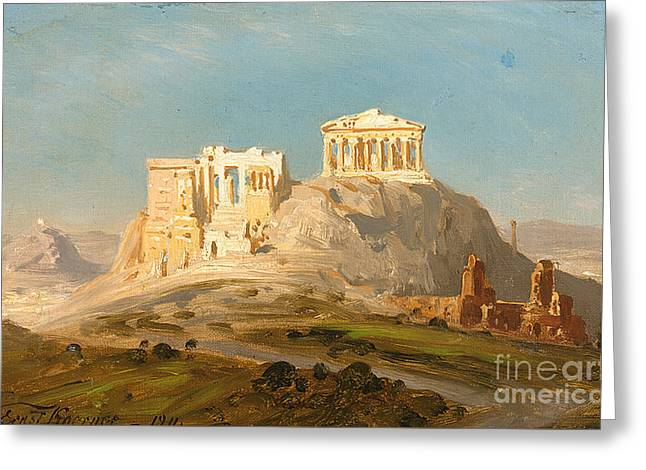 View Of The Akropolis Greeting Card