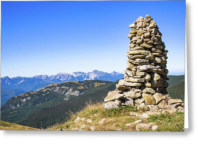 View Of The Apuan Alps Greeting Card