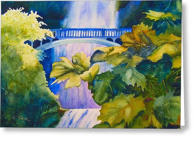 View Of The Bridge Greeting Card by Karen Stark