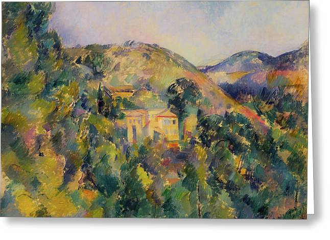 View Of The Domain Saint - Joseph Greeting Card by Paul Cezanne