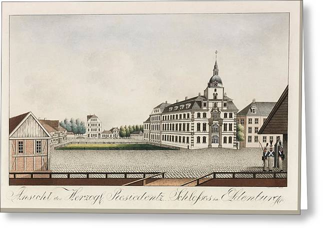 View Of The Ducal Residence Palace In Oldenburg Greeting Card