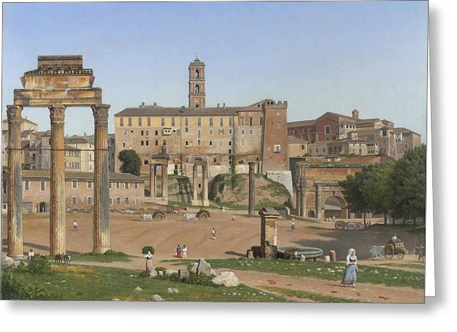 View Of The Forum In Rome Greeting Card