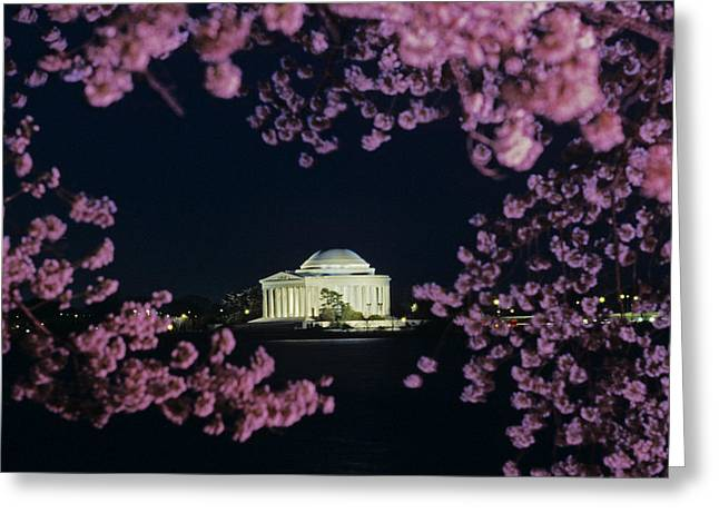View Of The Jefferson Memorial Greeting Card by Kenneth Garrett