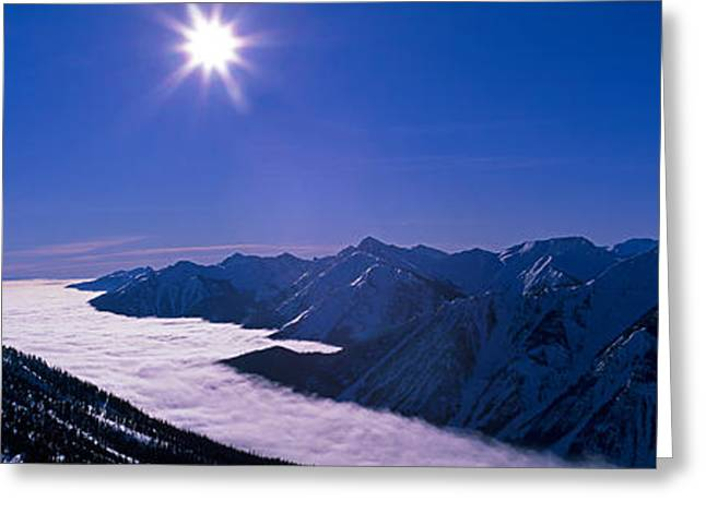 View Of The Kicking Horse Resort Greeting Card by Panoramic Images