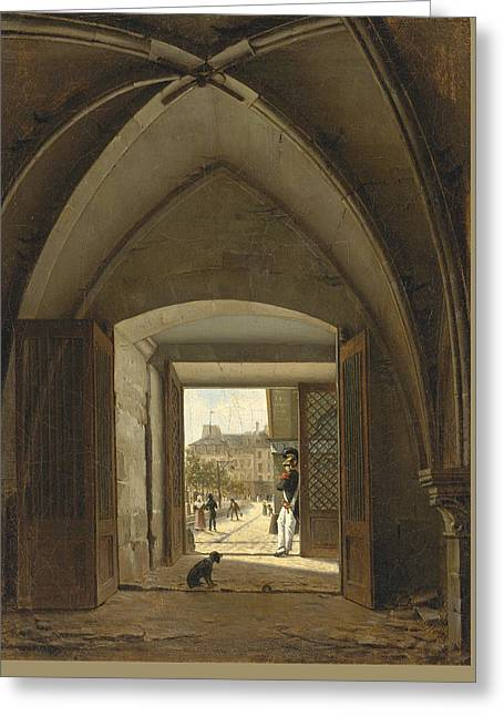 View Of The Maison Bellechasse Rue Saint Dominique. Paris Greeting Card