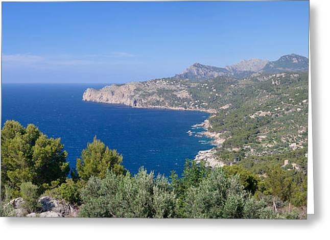 View Of The North Coast, Serra De Greeting Card by Panoramic Images