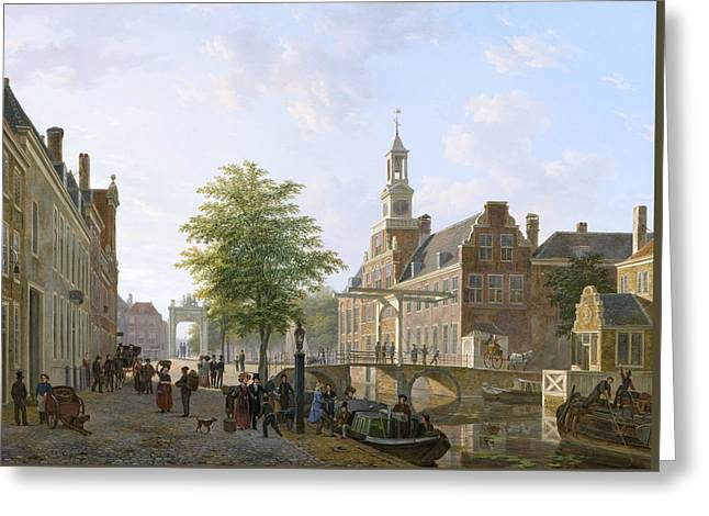 View Of The Old Women And Children Home To The Sick Greeting Card by Bartholomeus van Hove