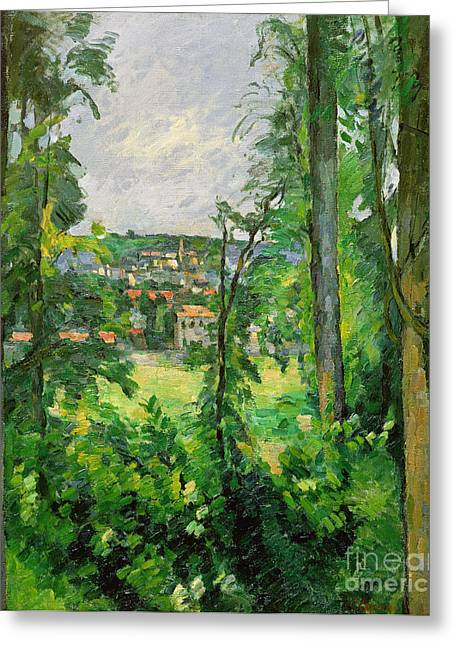View Of The Outskirts Greeting Card by Paul Cezanne