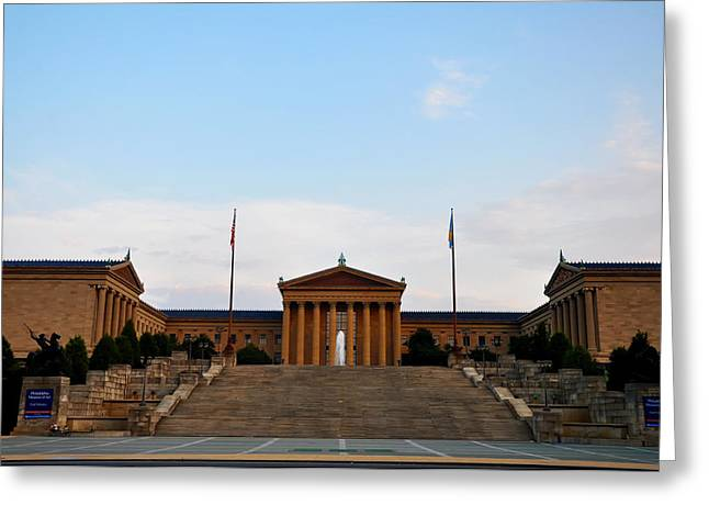 View Of The  Philadelphia Museum Of Art Greeting Card