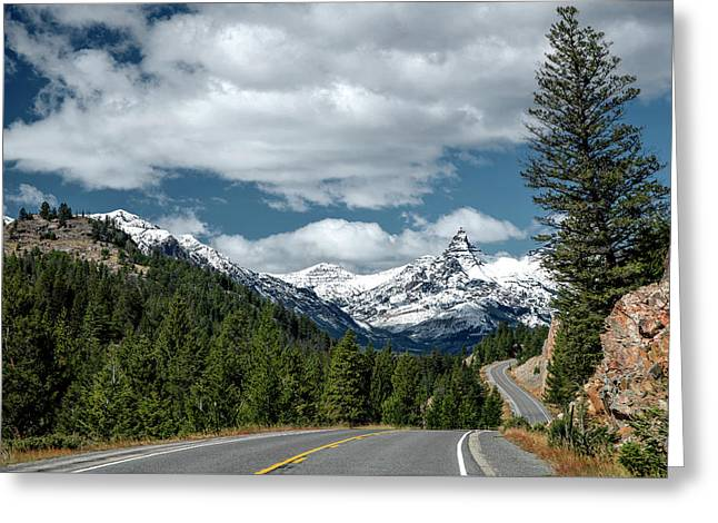 View Of The Pilot Peak From Highway 212 Greeting Card