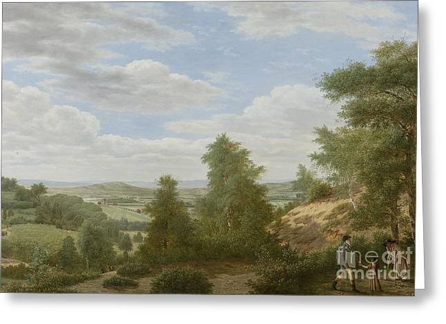 View Of The Plain Of Montmorency In St Leu Greeting Card by Celestial Images