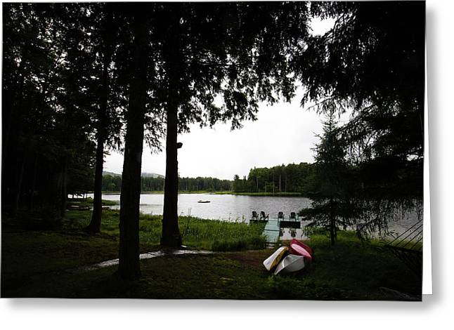 Greeting Card featuring the photograph View Of The Pond by David Patterson