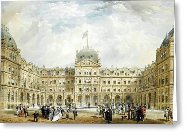 View Of The Quadrangle Of The New Liverpool Exchange  Greeting Card