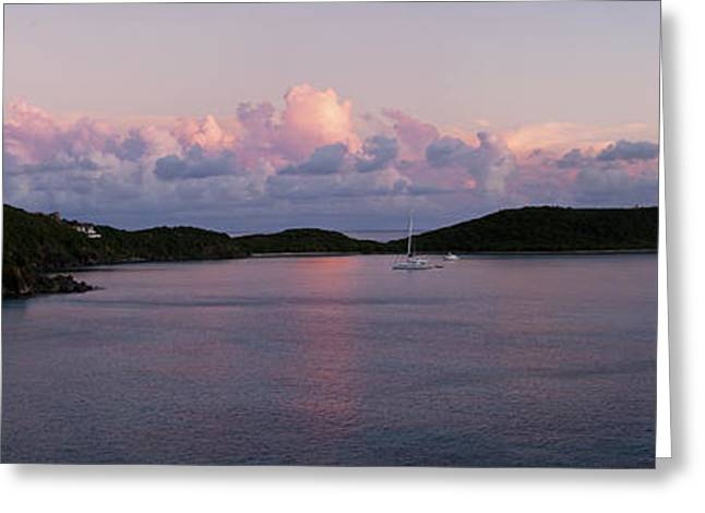 View Of The Rendezvous Bay At Sunset Greeting Card