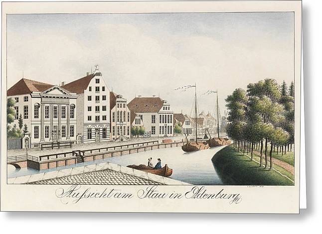 View Of The Stau In Oldenburg Greeting Card
