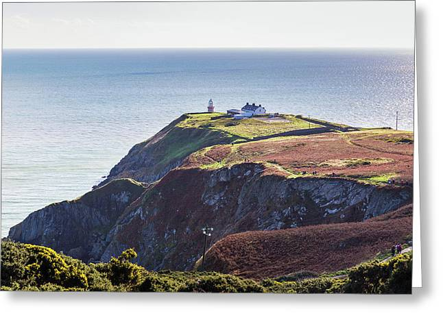 View Of The Trails On Howth Cliffs And Howth Head In Ireland Greeting Card by Semmick Photo