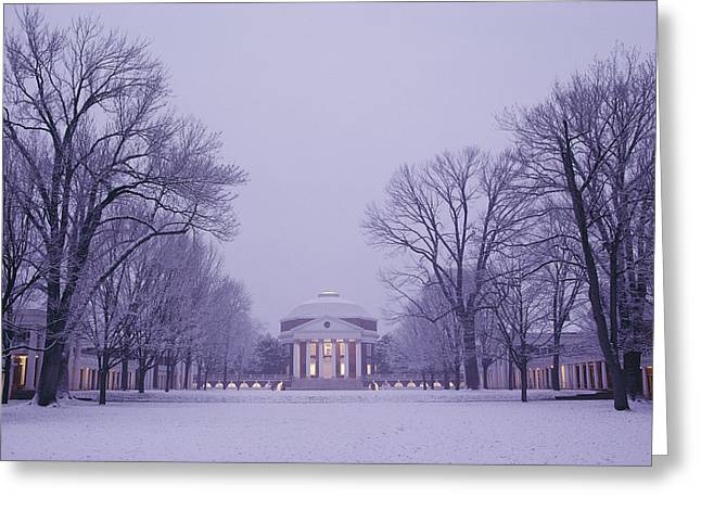 Southern Scene Greeting Cards - View Of The University Of Virginias Greeting Card by Kenneth Garrett