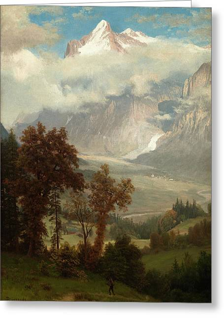 View Of The Wetterhorn From The Valley Of Grindelwald Greeting Card
