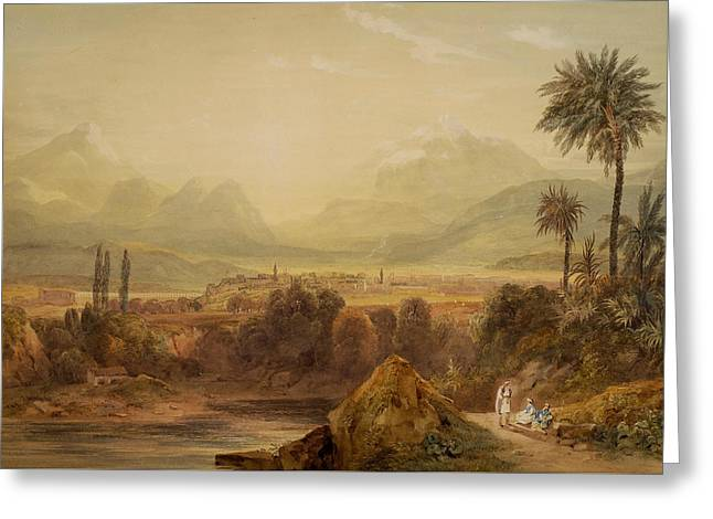 View Of Thebes Greeting Card