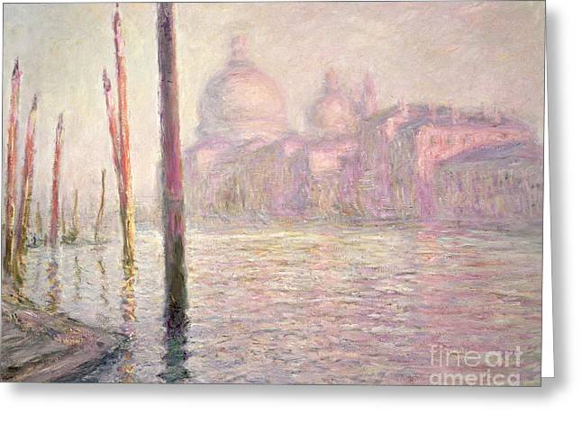 View Of Venice Greeting Card by Claude Monet