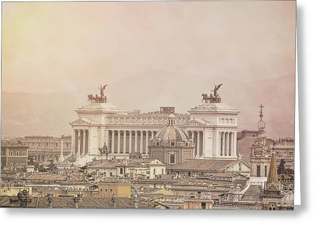 View Of Vittoriano In Rome Greeting Card by JAMART Photography
