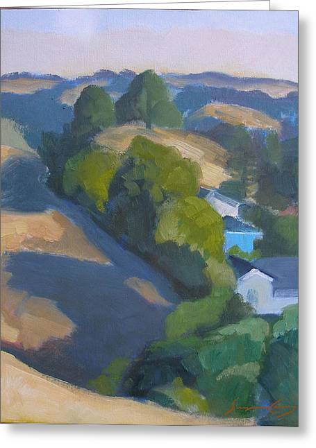 View Of Walnut Creek Hills From Trailhead Greeting Card