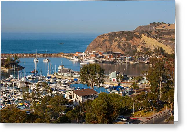 View Of West Basin Dana Point Harbor Greeting Card by Cliff Wassmann