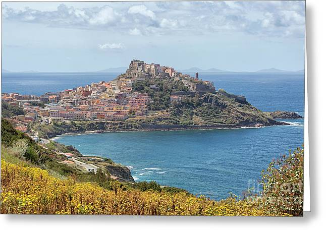View On Castelsardo Greeting Card